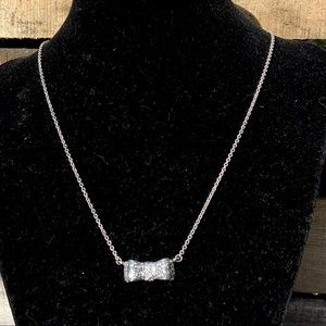 🌻Kate Spade New York Silver Bow Pendant Necklace